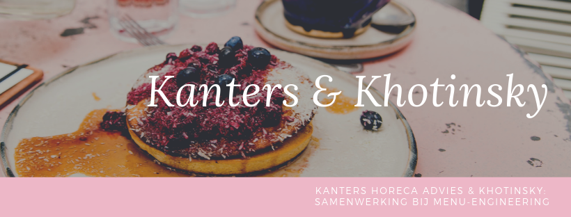 Kanters Horeca Advies - menu-engineering